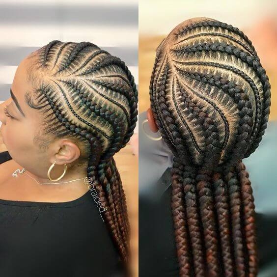braid styles for natural hair growth on all hair types for Braid Styles On Natural Hair Ideas