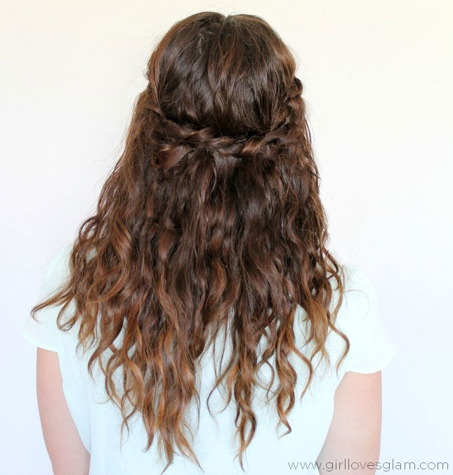 Fresh 25 easy and cute hairstyles for curly hair southern living Braided Hairstyles For Curly Medium Length Hair Ideas