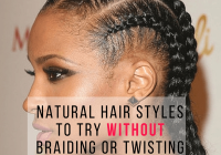 Fresh natural hair styles to try without braiding or twisting Braid Styles On Natural Hair Ideas